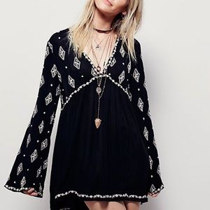 Free People Diamond Embroidered Tunic Top